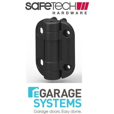 Safetech Adjustable Tension Hinge Self Closing With Leg Black Pair - SHG-90L
