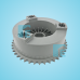 B&D Gear Sprocket Grifco White Plastic ATA 92585 Uses 10B Chain SKDR210 51703