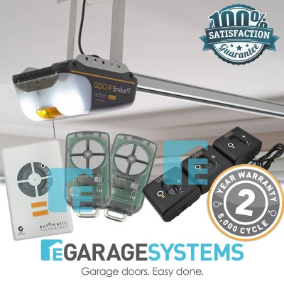 ATA GDO-9v2 Enduro Gen2 with Aluminium Chain C-Rail + Wireless Safety Beam System