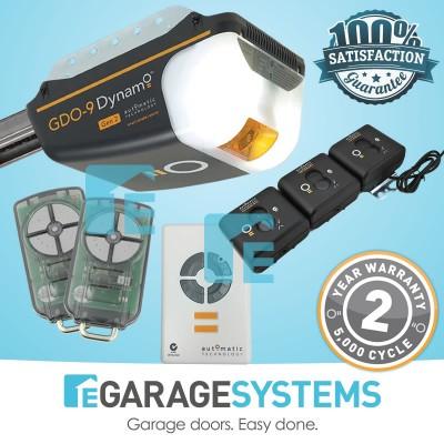 ATA GDO-9v3 Dynamo Gen2 with Steel Belt C-Rail + Wireless Safety Beam System