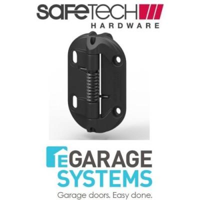 Safetech Fixed Tension Gate Hinge Self-Closing 1 x Leg Black Pair - SHF-90L-1