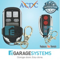 Compatible ACDC Handy 433.92MHz Garage Door Remote CACDCH