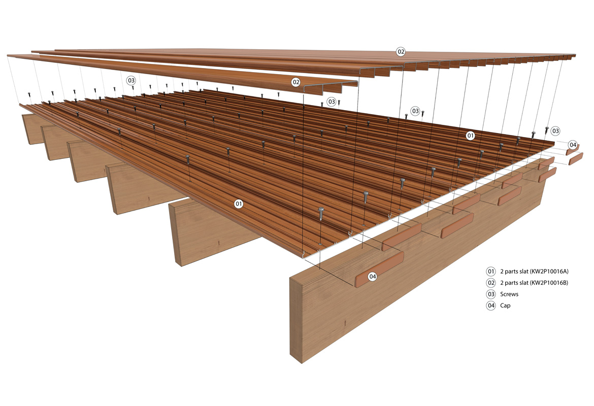 Aluminium decking by knotwood for How to install decking