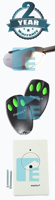 merlin roller door opener instructions
